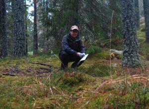 Klas Johansson i den miljö han trivs bäst. Foto: Privat.