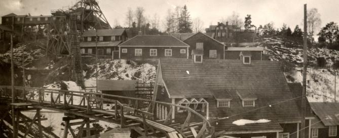 Nartorps gruvor, troligen på 1920-talet. Bilden tillhör Ann-Marie Eliasson.